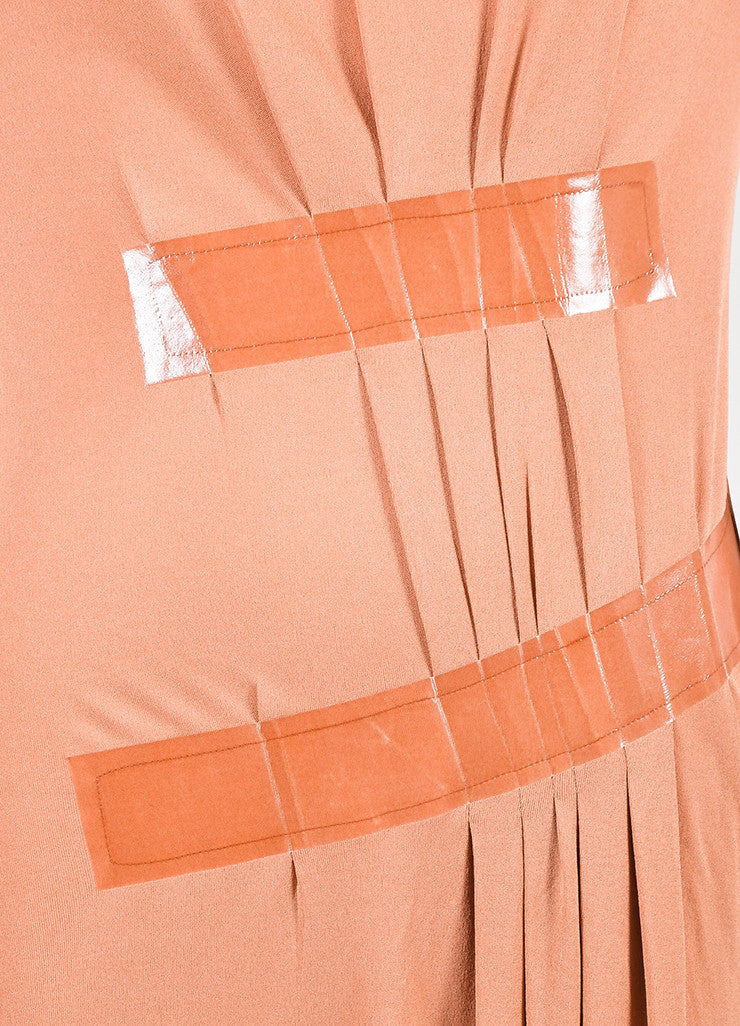 Maison Martin Margiela Coral Short Sleeve Pleated Detail Dress Detail