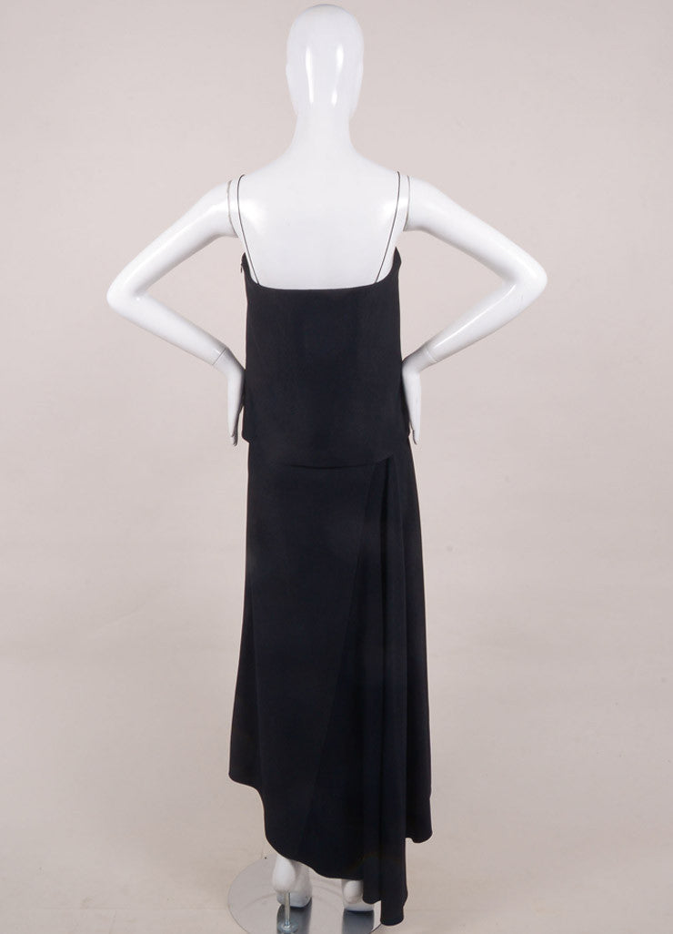 The Row New With Tags Navy Layered Spaghetti Strap Maxi Dress Backview