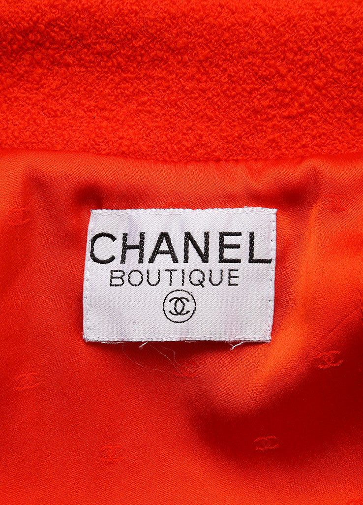 Chanel Orange Boucle Skirt Suit Brand 2