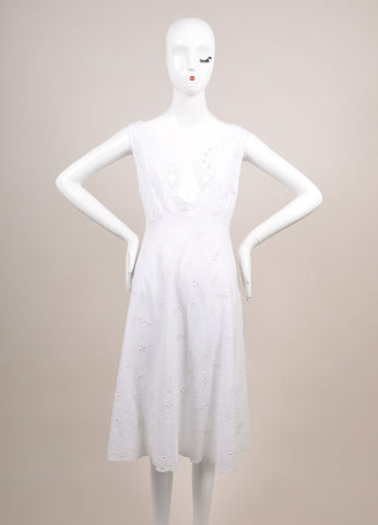 "Antik Batik New With Tags White Eyelet ""Naya"" Sun Dress Frontview"