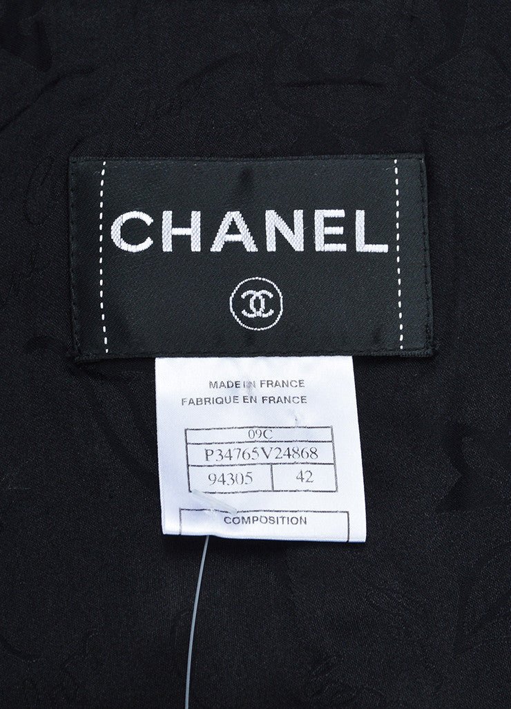 Black Sequin Chanel Blazer Jacket Brand