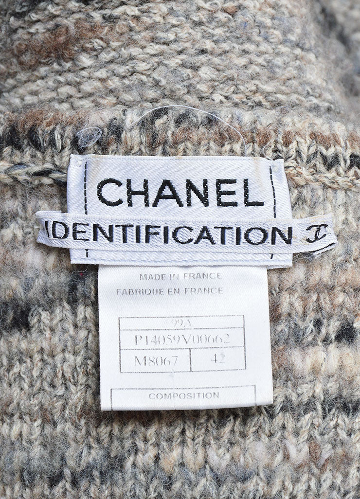 Chanel Grey and Purple Stretch Wool Fringe Sweater Vest Brand