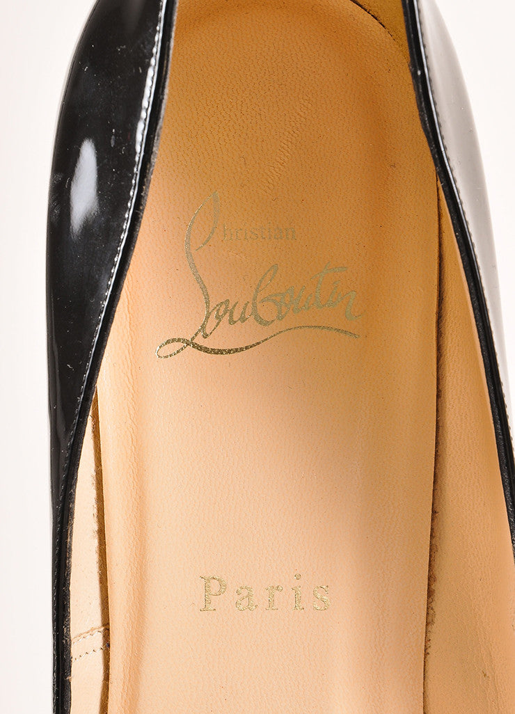 "Christian Louboutin Black Patent Leather ""Pigalle Plato 120mm"" Pumps Brand"