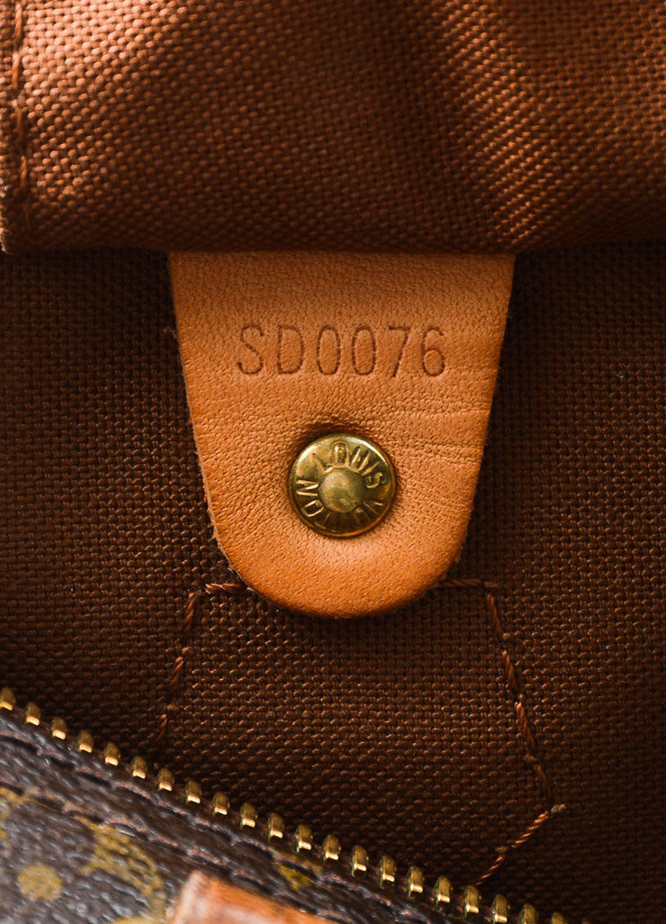 Brown Louis Vuitton Monogram Canvas Speedy 30cm Duffel Bag Date Code
