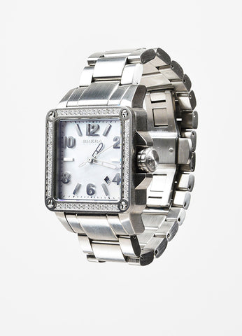 Brera Orologi Stella Collection Stainless Steel Diamond Bracelet Watch Sideview