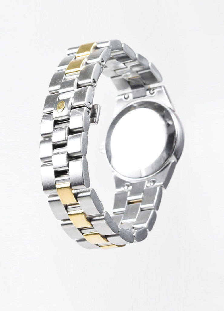 "Concord Stainless Steel 18K Gold Diamond ""Mariner"" Two Tone Bracelet Watch Backview"