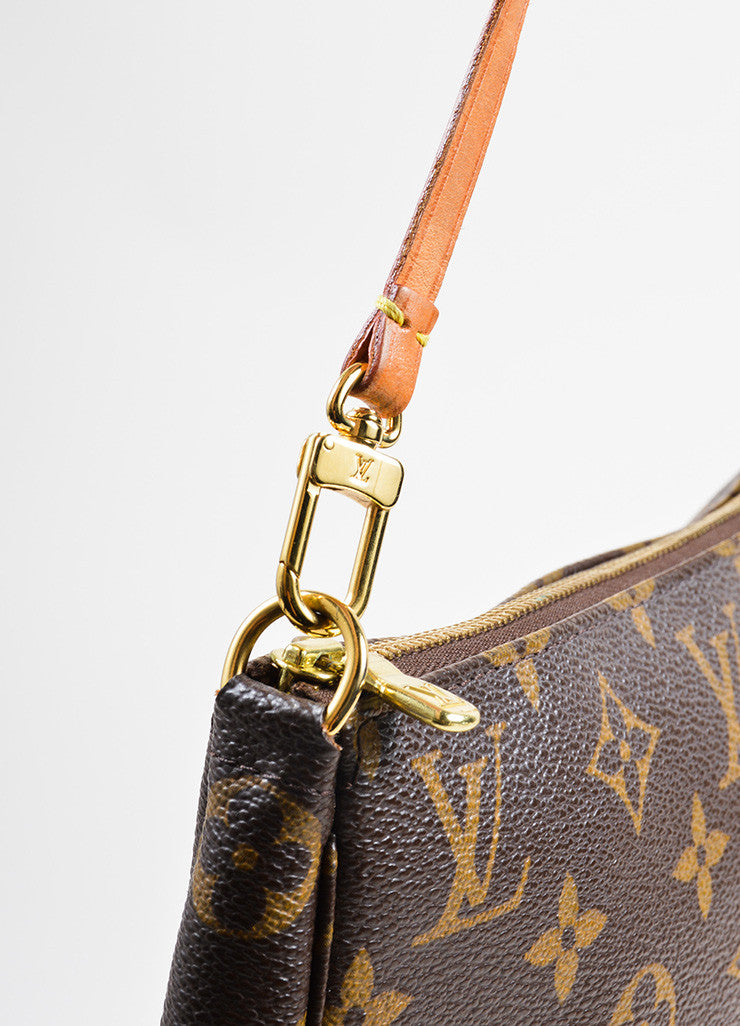 Louis Vuitton Brown Coated Canvas and Leather Monogram Pochette Bag Detail 2