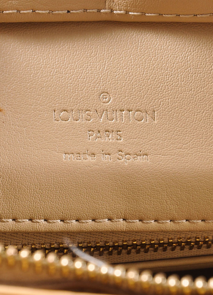 "Louis Vuitton Cream Monogram Vernis ""Houston"" Tote Bag Brand"