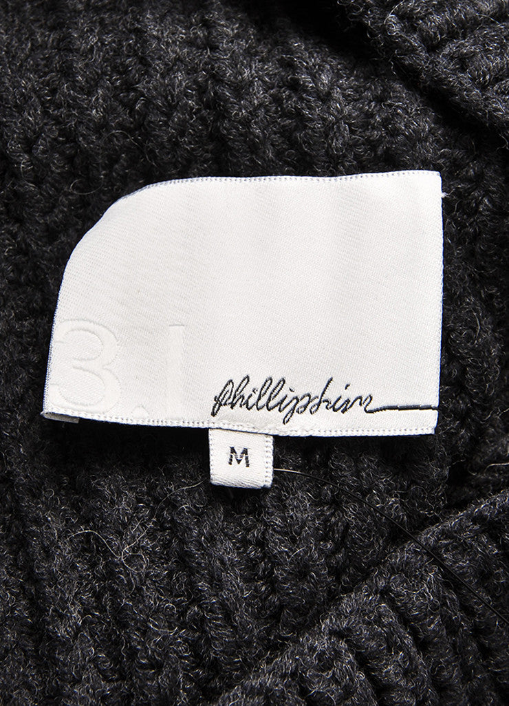 3.1 Phillip Lim Charcoal Grey Wool Blend Cocoon Sleeveless Sweater Brand