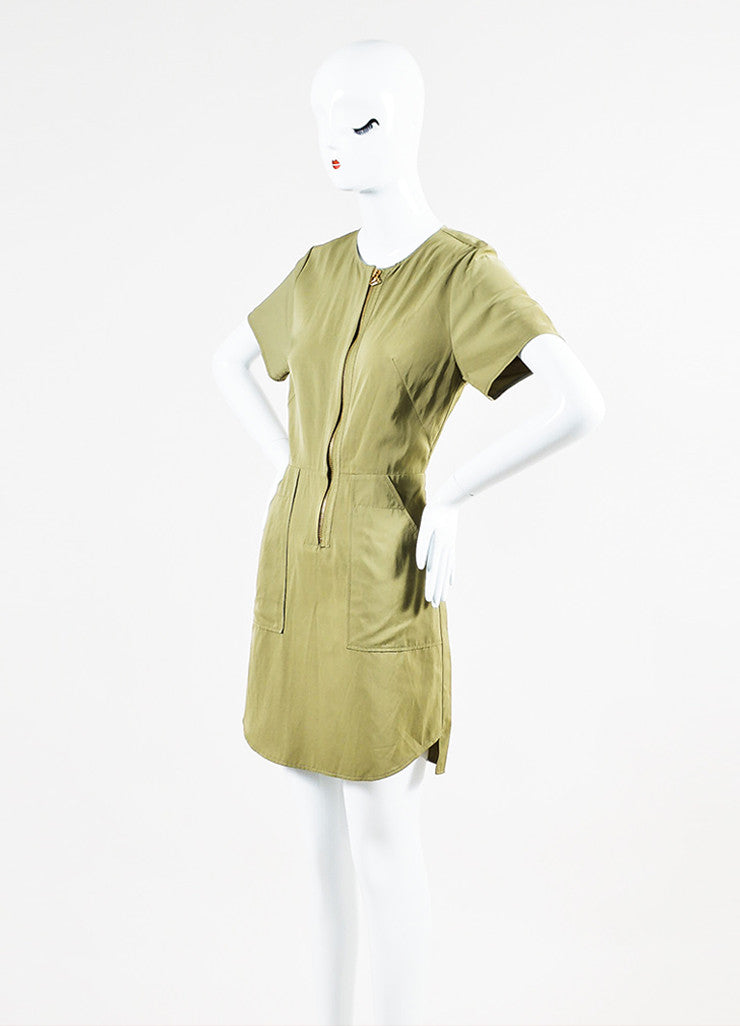 3.1 Phillip Lim Pale Sage Green Short Sleeve Back Cut Out Dress