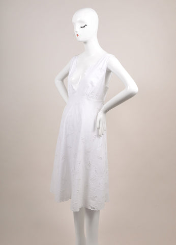 "Antik Batik New With Tags White Eyelet ""Naya"" Sun Dress Sideview"