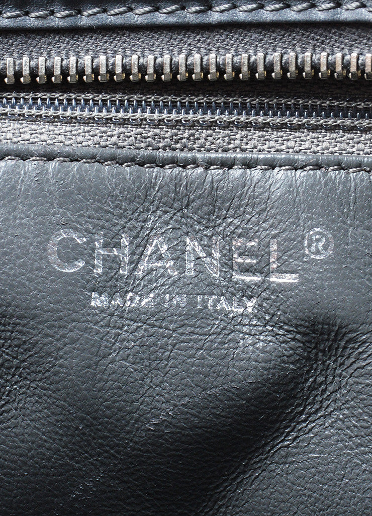 Gunmetal Grey Chanel Quilted Lambskin Leather Chain Reissue Camera Bag Brand