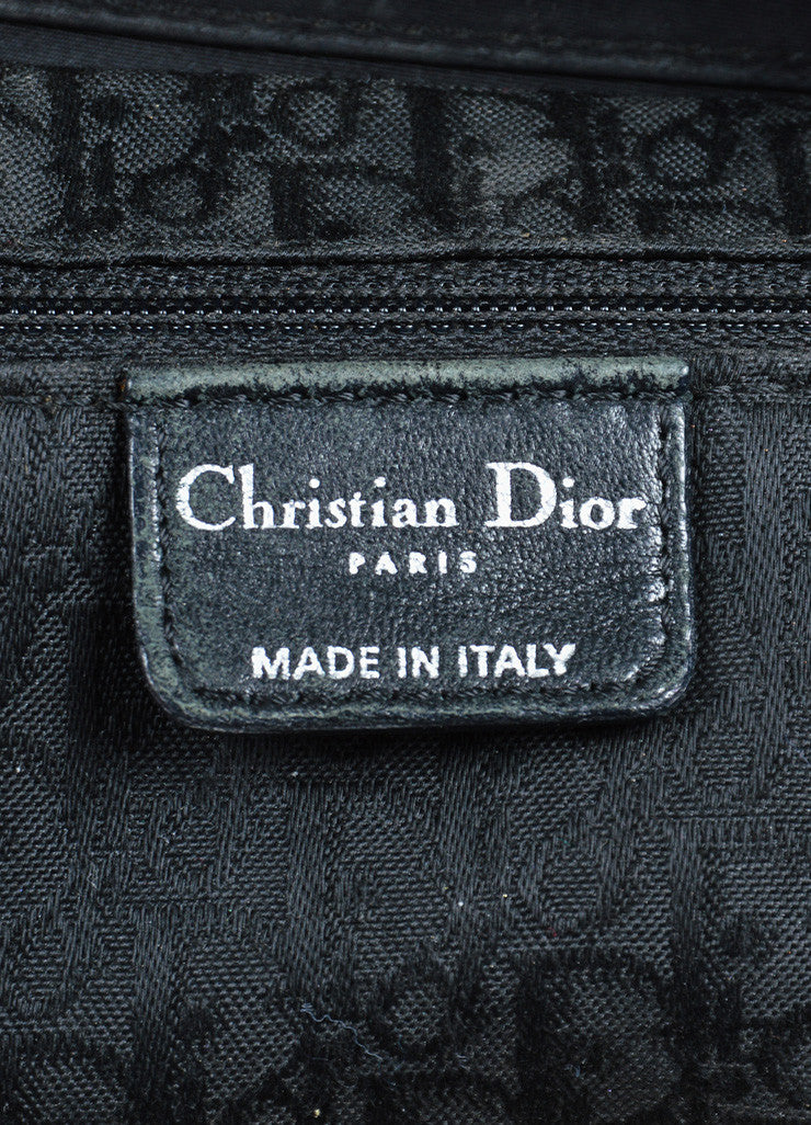 "Black Silk and Leather Christian Dior ""Cannage Large Lady Dior"" Cross Body Bag Brand"