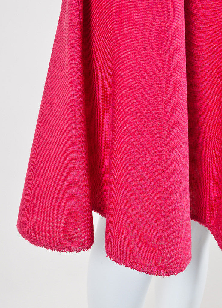Pink Christian Dior Silk and Cotton Knit Sleeveless Fit and Flare Dress Detail