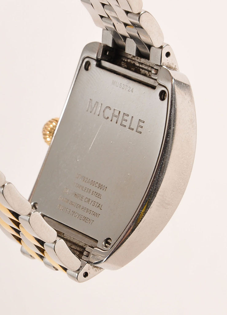 Michele Silver and Gold Toned Stainless Steel Watch Brand