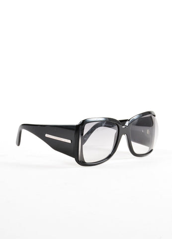 "Stella McCartney Black Oversized Square Frame ""STM 34/S"" Sunglasses Sideview"