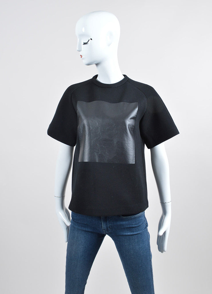 Black Alexander Wang Heat Tech Square Detail T-Shirt Frontview