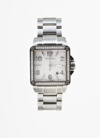 Brera Orologi Stella Collection Stainless Steel Diamond Bracelet Watch Frontview