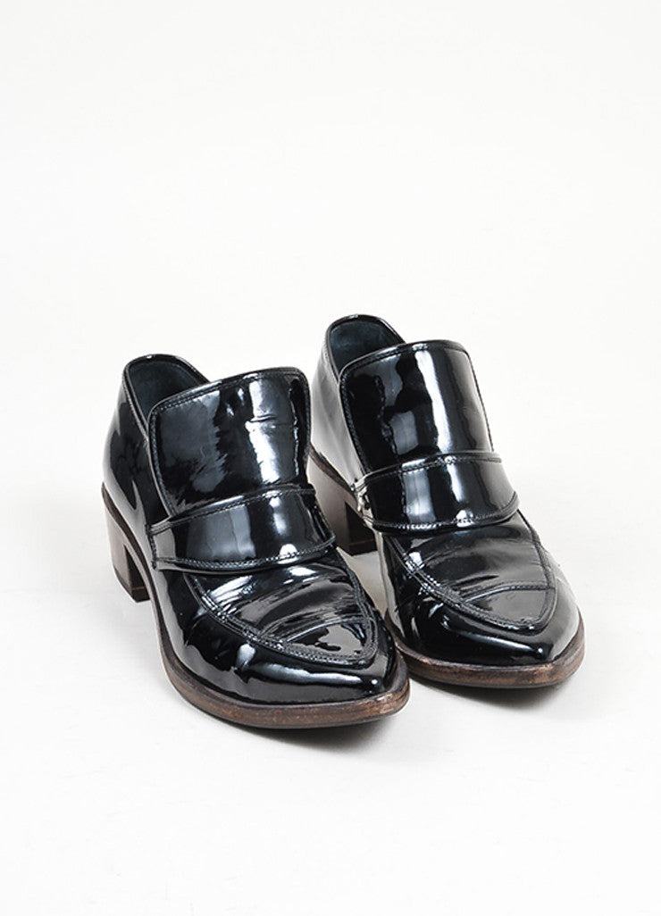 Black Chanel Patent Leather Chunky Heel Loafers – Luxury Garage Sale