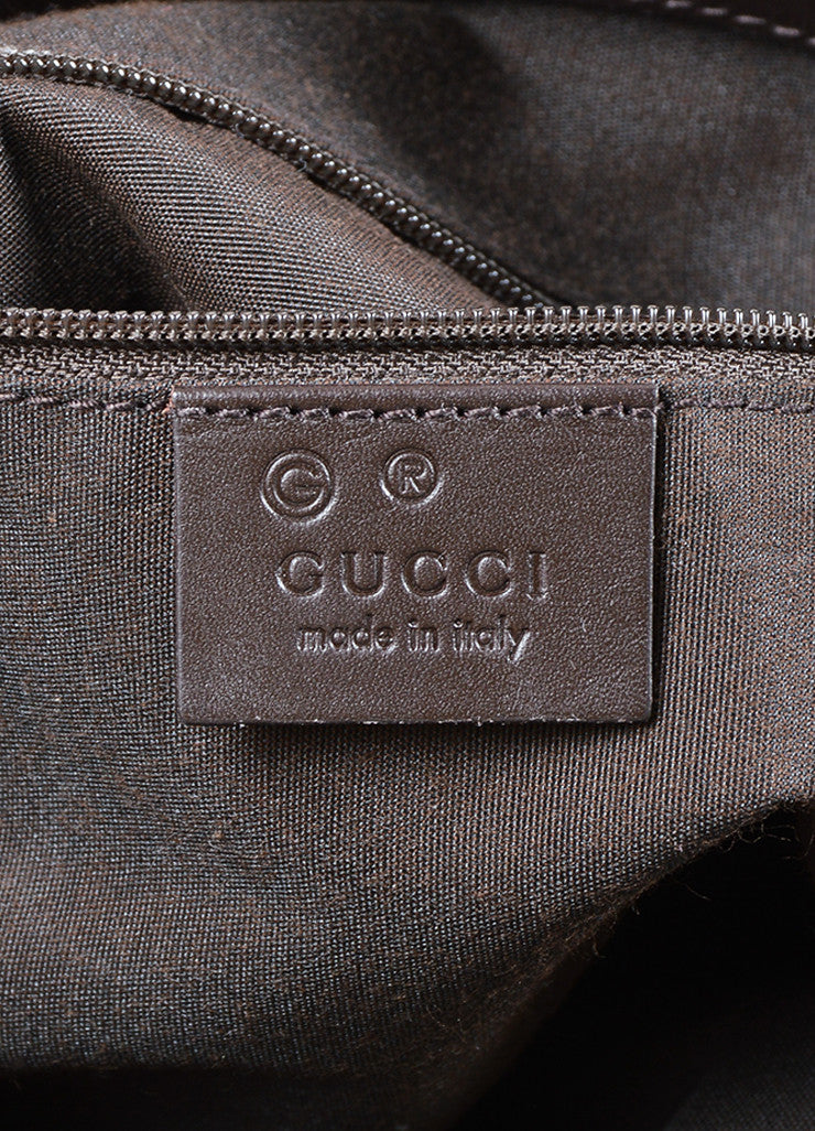 Gucci Brown Monogram Canvas and Leather Shoulder Bag Brand