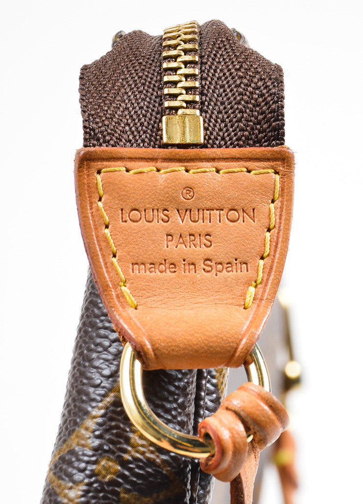 Louis Vuitton Brown Coated Canvas and Leather Monogram Pochette Bag Brand