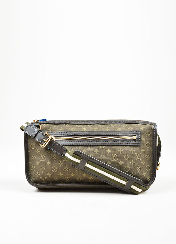 "Green Louis Vuitton Monogram Canvas ""Mini Lin Kathleen Pochette"" Shoulder Bag Frontview"