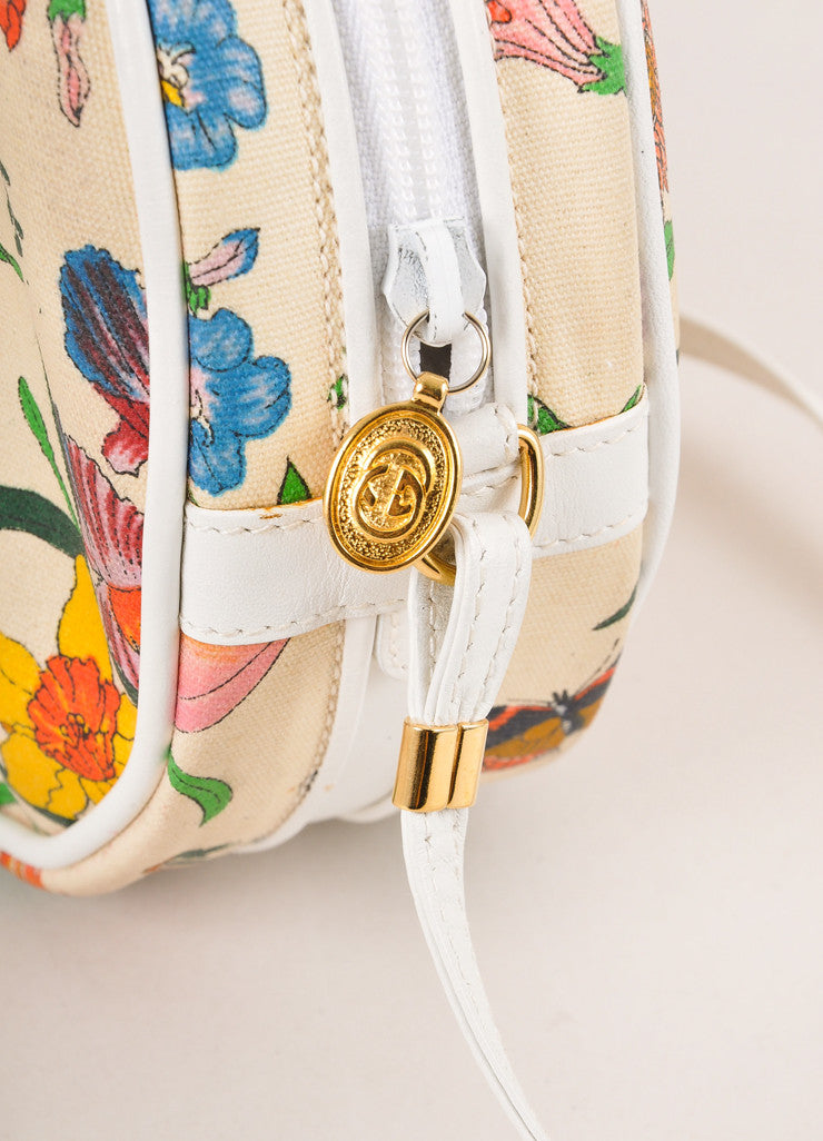 "Gucci Multicolor ""GG"" Monogram Coated Canvas and Leather ""Canteen"" Bag Detail"