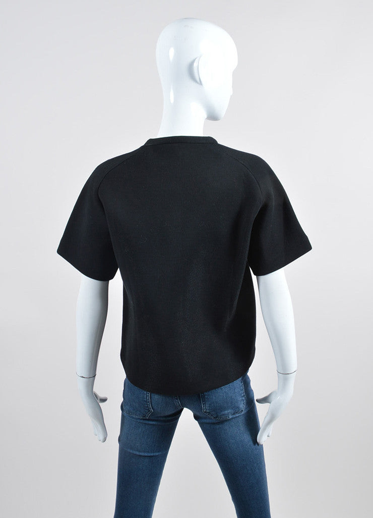 Black Alexander Wang Heat Tech Square Detail T-Shirt Backview