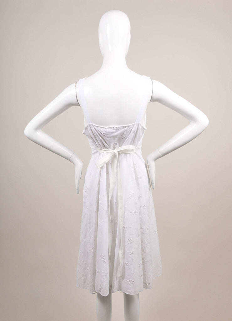 "Antik Batik New With Tags White Eyelet ""Naya"" Sun Dress Backview"