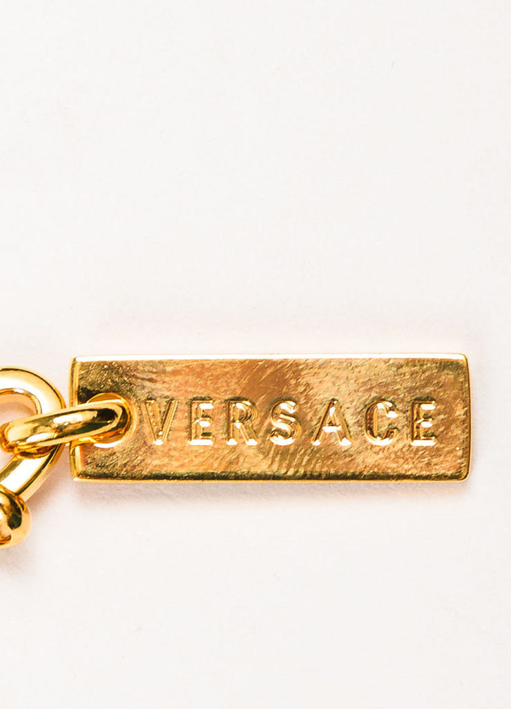 "Gianni Versace ""Vanitas"" Gold Toned Medusa Head and Greek Key Chain Belt Brand"