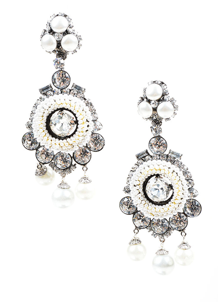Faux Pearl Lawrence VRBA Chandelier Clip On Earrings Luxury – Clip on Earrings Chandelier
