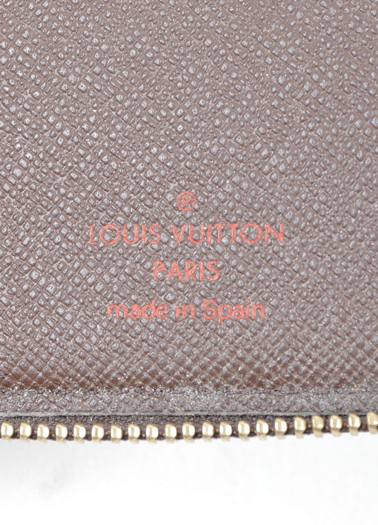 "Louis Vuitton Brown and Tan ""Ebene"" Coated Canvas Damier ""Olav"" Organizer Wallet Brand"