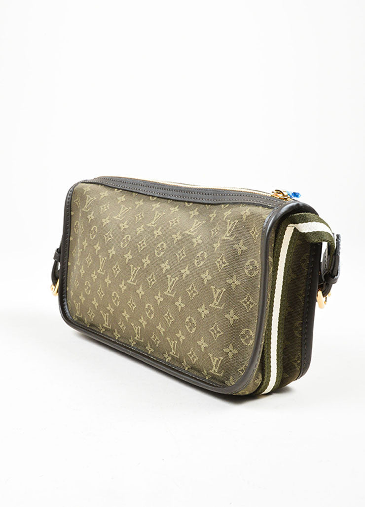 "Green Louis Vuitton Monogram Canvas ""Mini Lin Kathleen Pochette"" Shoulder Bag Sideview"