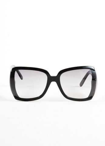 "Stella McCartney Black Oversized Square Frame ""STM 34/S"" Sunglasses Frontview"