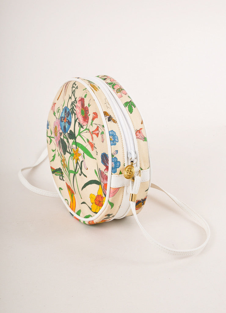 "Gucci Multicolor ""GG"" Monogram Coated Canvas and Leather ""Canteen"" Bag Sideview"