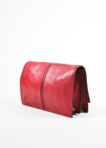 "Valentino Garavani Red Leather ""My Own Code"" ""MOC"" Accordion Clutch Back"