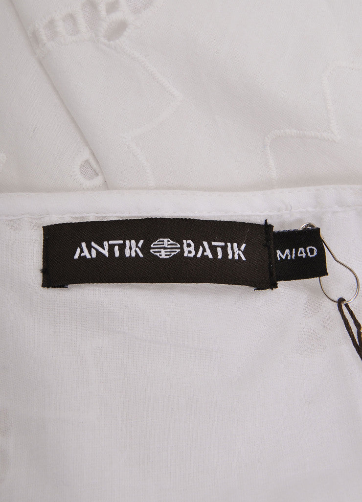 "Antik Batik New With Tags White Eyelet ""Naya"" Sun Dress Brand"