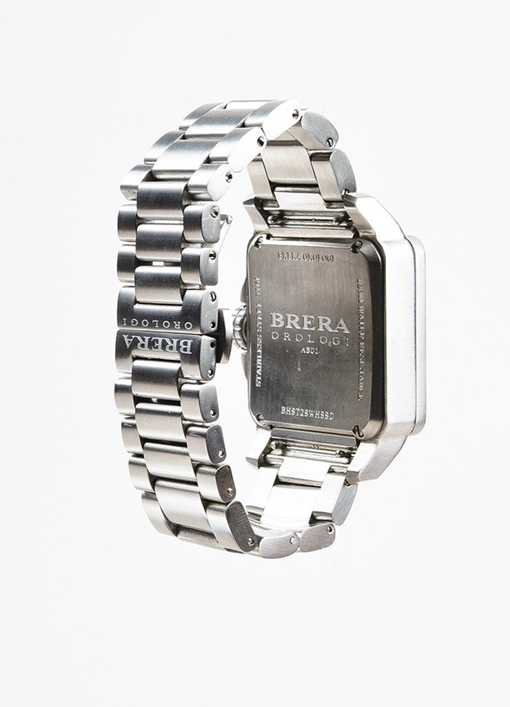 Brera Orologi Stella Collection Stainless Steel Diamond Bracelet Watch Backview