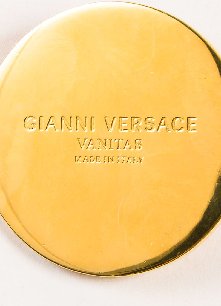 "Gianni Versace ""Vanitas"" Gold Toned Medusa Head and Greek Key Chain Belt Brand 2"