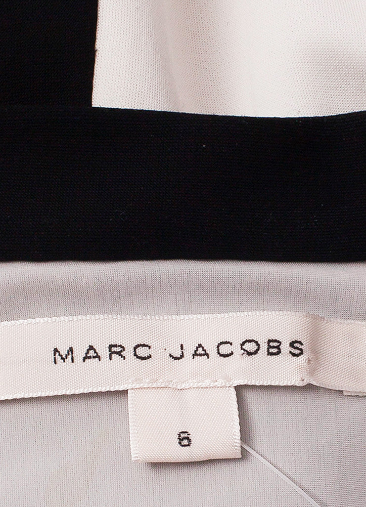Marc Jacobs Black and White Stripe Long Sleeve Maxi Dress Brand