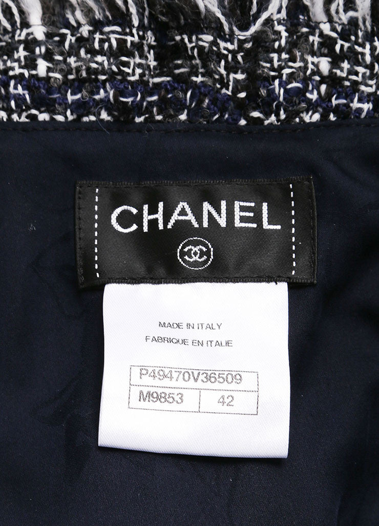 Chanel Black and White Boucle Fantasy Wool Tweed Jacket Brand