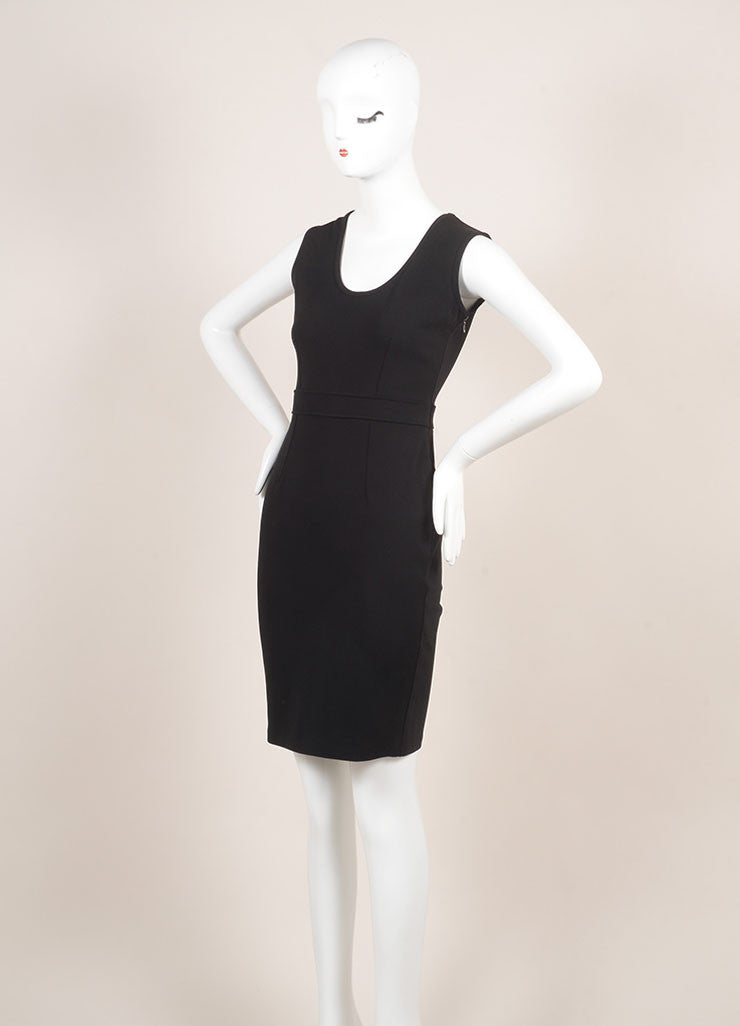 Givenchy Black Sleeveless Cocktail Dress Sideview