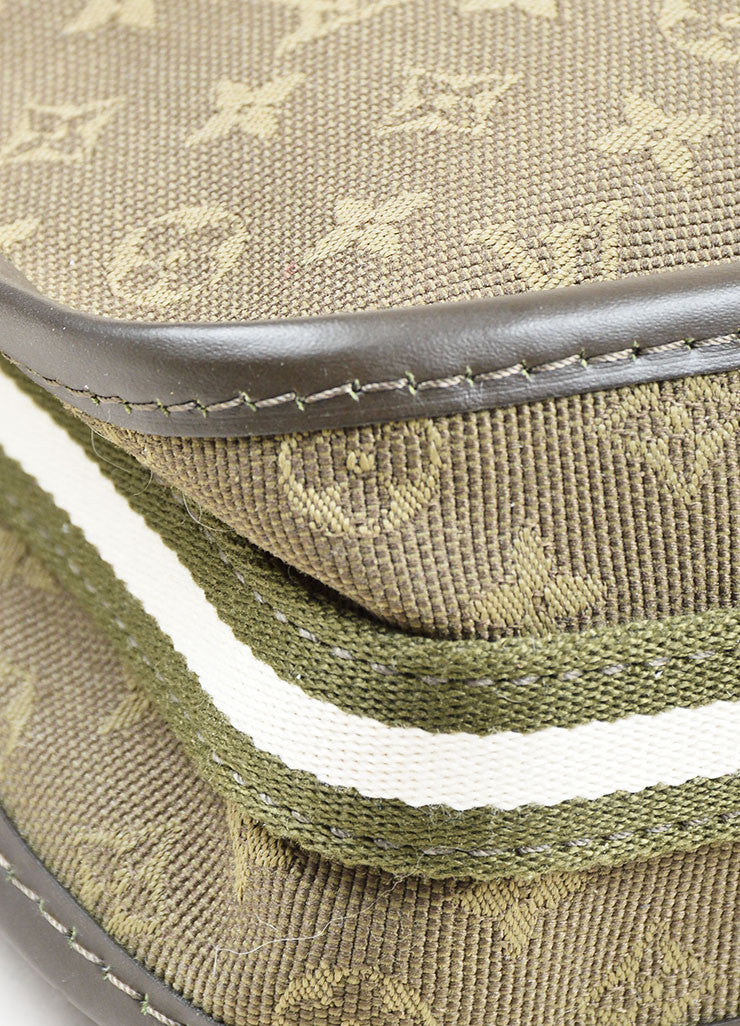 "Green Louis Vuitton Monogram Canvas ""Mini Lin Kathleen Pochette"" Shoulder Bag Detail"