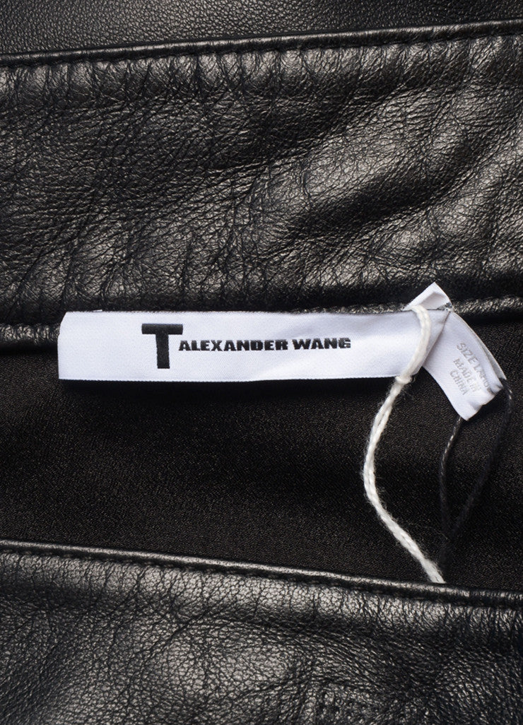 T by Alexander Wang New With Tags Black Leather Paneled Pencil Skirt Brand