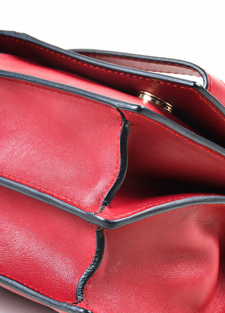"Valentino Garavani Red Leather ""My Own Code"" ""MOC"" Accordion Clutch Detail 2"