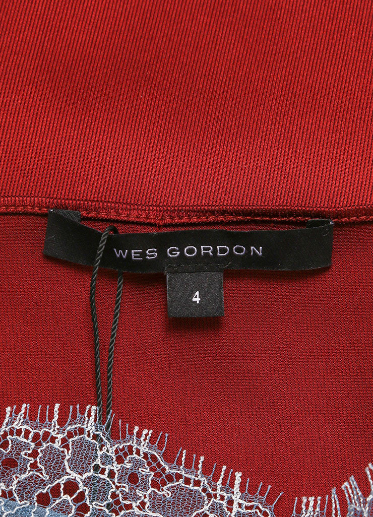 Wes Gordon New With Tags Maroon Satin Twill Crop Trapeze Tank Top Brand