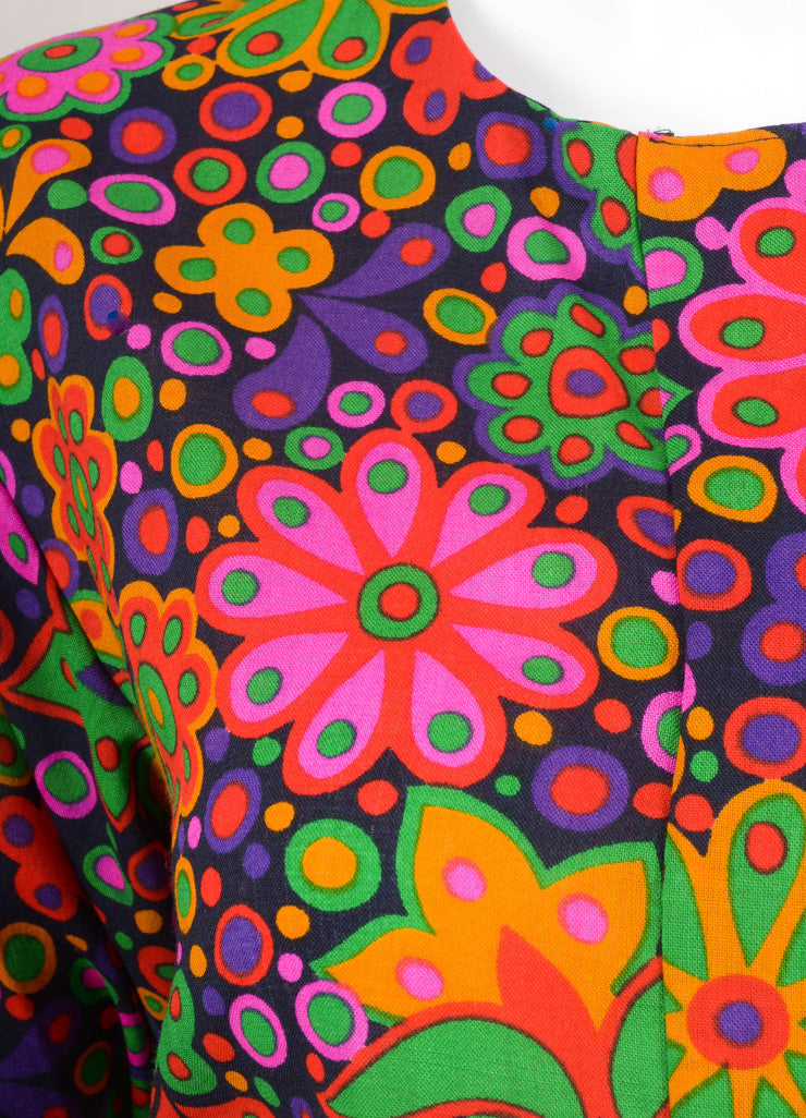 Multicolor Floral Print Long Sleeve Button Up Blouse