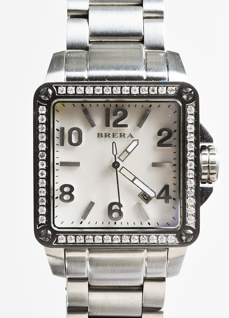 Brera Orologi Stella Collection Stainless Steel Diamond Bracelet Watch Detail