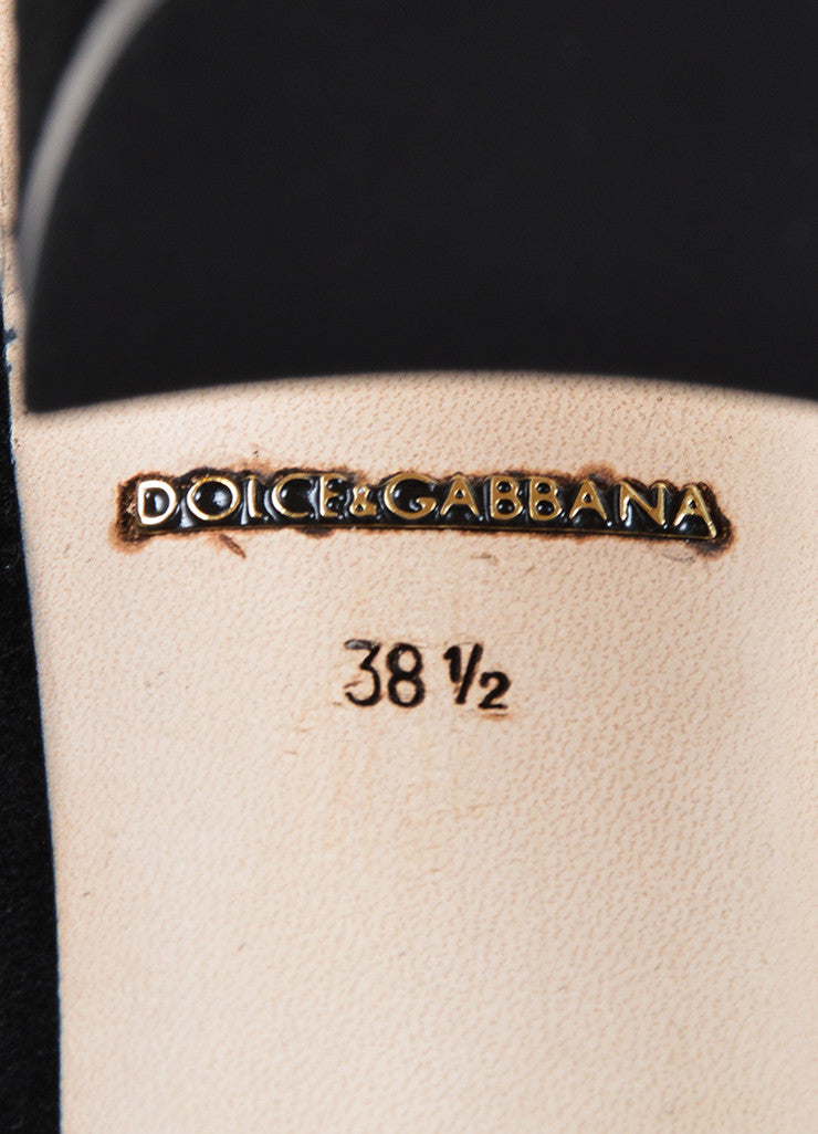 Black Dolce & Gabbana Suede Leather Lace Stocking Pumps Brand