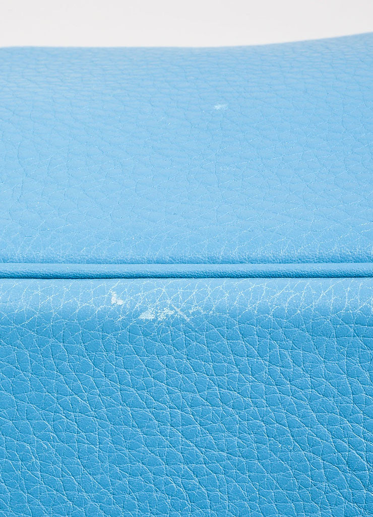 "Blue ""Saint Cyr"" Hermes SHW Leather 50cm ""Birkin"" Bag Detail 4"